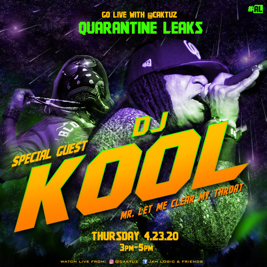 DJ Kool & Caktuz Chop It Up On IG Live